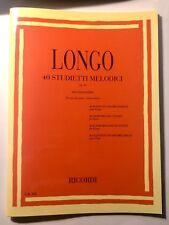 Longo 40 studietti melodici per piccole mani op. 43 per pianoforte