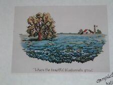 Vtg 80s Texas Hill Country Blue Bonnets Landmark Series Cross Stitch Kit RARE#lk