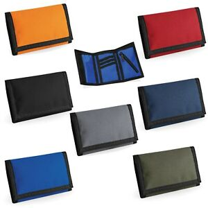 Mens wallets with coin pocket with Zip Slim trifold Black, Red, Orange Blue