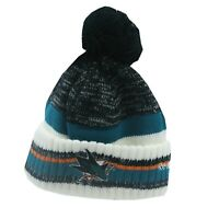 San Jose Sharks NHL Reebok Youth Boys (8-20) Cuffed Pom Knit Winter Beanie Hat
