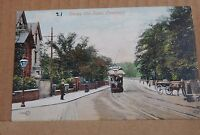 Postcard Eccles Old Road Pendleton Salford Early Colour Card posted 1906