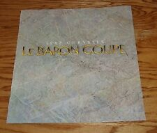 Original 1987 Chrysler LeBaron Coupe Deluxe Sales Brochure 87