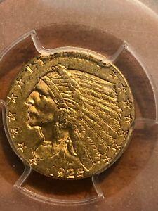 1925-D INDIAN HEAD QUARTER EAGLE $2.5 GOLD PCGS MS61