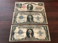 (3 Notes) 1917 $1 Legal Tender $1 1923 Silver Certificates Large Size Paper Bill