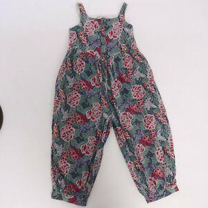 Vintage 1980s original Laura Ashley novelty floral print jumpsuit romper Medium