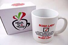 11oz Coffee Mug Tea Cup Boss Lady Women's Pretty Gift for Her, Mom Wife Giftbox