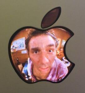 GLOWING SEINFELD KRAMER IN PEEPHOLE Apple Pro Air Sticker Laptop DECAL 11-17inch