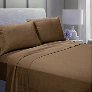 """4 Piece Bed Sheet Set 1900 Count 14"""" Deep Pocket Egyptian Comfort Hotel Quality"""