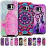 Varnish Embossed PC&TPU Back Case Cover Painted Skin For Samsung Galaxy Phones