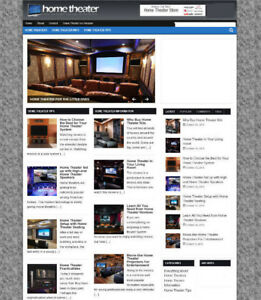HOME THEATER ADVICE WEBSITE & STORE WITH AFFILIATES + NEW DOMAIN