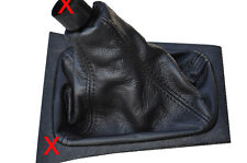 FITS  ASTRA G MK4 COUPE ZAFIRA GEAR GAITER BLACK LEATHER