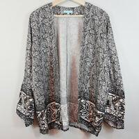 [ BLUE ILLUSION ] Womens Print Kimono Jacket /  Top | Size 3 or AU 16 / US 12