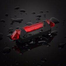 5 LED USB Rechargeable Bicycle Bike Cycling Tail Rear Light 4 Modes Lamp Red efr
