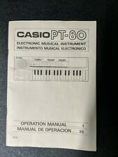 Casio PT-80 Manual Only
