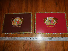 Set of 2 tin Cigar Boxes Romeo & Juliet Reserva Real and Habana Reserve - Empty