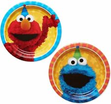 2 Packs of Sesame Street 7' Round Plate, 8 Count per pack, Party Supplies New