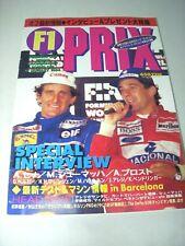 F1 PRIX Japanese Magazine 1994 MICHAEL SCHUMACHER AYRTON SENNA GERHARD BERGER