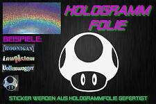 1 up nr3 holograma Holo JDM Sticker Adhesivo domo Cromo Plata Rainbow