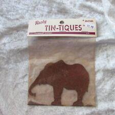 NEW Rusty Tin-Tiques Elephant Primitive crafts NIP UNOPENED shape craft supply