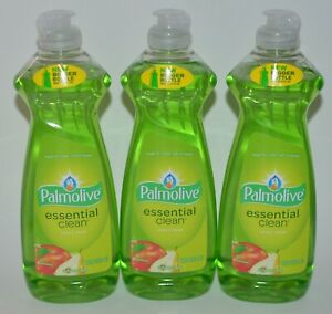 3 PALMOLIVE ESSENTIAL CLEAN APPLE PEAR ULTRA DISH LIQUID SOAP HAND WASH 14OZ LOT