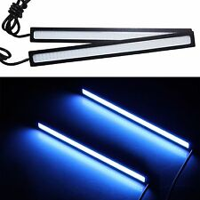 2pcs Waterproof Bright COB Car LED Light Lamp for DRL Fog Driving Blue color