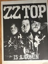 Original Zz Top Concert Poster Is A Coming 1973