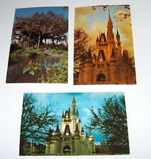 Disney World Postcards  Castle -Castle - TreeHouse in the 70's