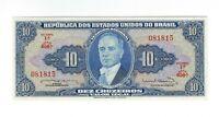 10 Cruzeiros Brasilien 1963 UNC C020 / P.167b - Brazil Banknote