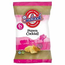 Seabrook Prawn Cocktail Crisps 6 x 25g - Sold Worldwide From UK