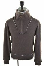 REPLAY Mens Zip Neck Jumper Sweater Small Brown  X108