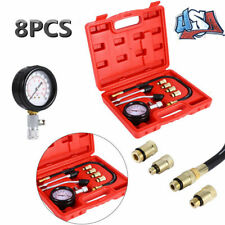 8pc Petrol Gas Engine Cylinder Compression Tester Kit Gauge Tool Automotive Kit