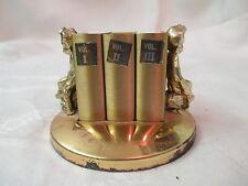 Vintage Gold Tone Product 3 Book form Matchbox Holder Cherubs