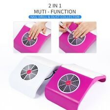 2in1 Nail Dust Collector Vacuum Suction Cleaner 65W Nail Drill Manicure Pedicure