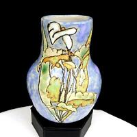 "LISA G SIGNED STUDIO ART POTTERY CALLA LILY MOTTLED 5 1/2"" VASE 2007"