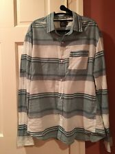 Hawkings McGill Light Weight 100% Cotton Men's Size Med Stripe LS Shirt UO