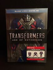 TRANSFORMERS AGE OF EXTINCTION BLU RAY DVD EXCLUSIVE OPTIMUS PRIME CASE NEW