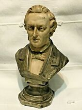 Chopin Composer Vintage Hand Tinted Chalk Ware Bust