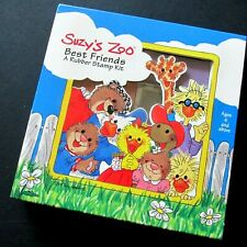 Suzy's Zoo Best Friends Rubber Stamp Kit Set of 10 Rubber Stampede Vintage New