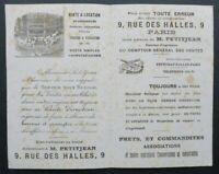 BUVARD PETITJEAN vente immobiler cahteaux rue des Halles PAris blotter Löscher