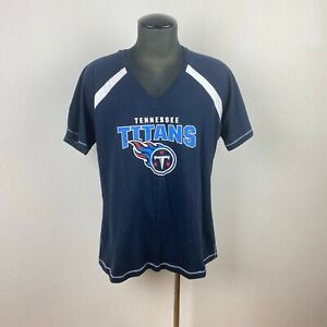 Tennessee Titans Short Sleeve T-Shirt Navy spell Out Logo Cotton 4X Majestic Fan