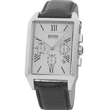 ** nuevo ** Para Hombre HUGO BOSS BLACK Clásico Chrono Reloj De Cuero - 1512577-RRP £ 259