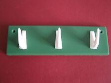 Hakenleiste Kleiderhaken 3 Haken Plastik grün ORIGINAL DDR
