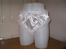 ADULT BABY~SISSY~MAIDS  SATIN, ORGANZA & DOUBLE LACE TRIM PANTIES