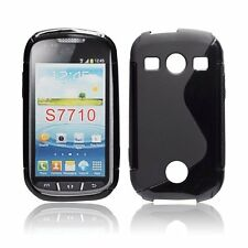 Samsung S7710 Galaxy Xcover 2 - Housse silicone souple protection anti choc NOIR