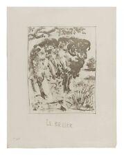 Pablo Picasso - Buffon's Histoire Naturelle - Le Belier (Ram) - Original Etching