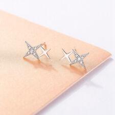 Kleine Ohrstecker Sterne echt Sterling Silber 925 Zirkonia Damen Ohrringe