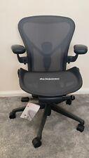 Herman Miller Aeron Chair Remastered Size B Graphite.