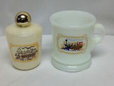 VINTAGE AVON SHAVING MUG AND AVON BLEND 7 AFTER SHAVE BOTTLE