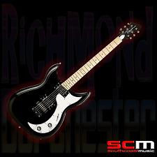 RICHMOND DORCHESTER ELECTRIC GUITAR BLACK GLOSS MAPLE FRETBOARD CHEAPER THAN USA