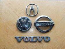 LOT of 4 Genuine OEM Car Logo Badge Emblems-Volvo, VW Volkswagen, Nissan, Acura